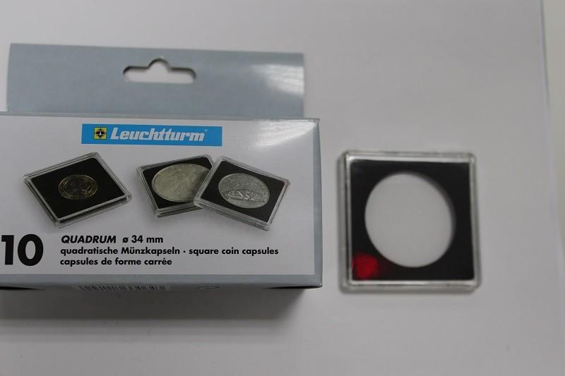 Новая цена! капсулы квадрум для монет диаметром до 34 мм, на.